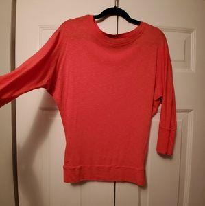 Orange Batwing Sleeve Top